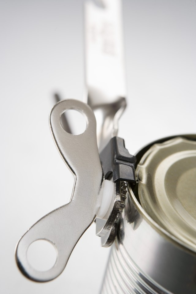 Can opener on can