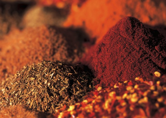 close-up of assorted dry herbs and spices