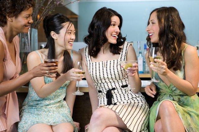 Women at a bar