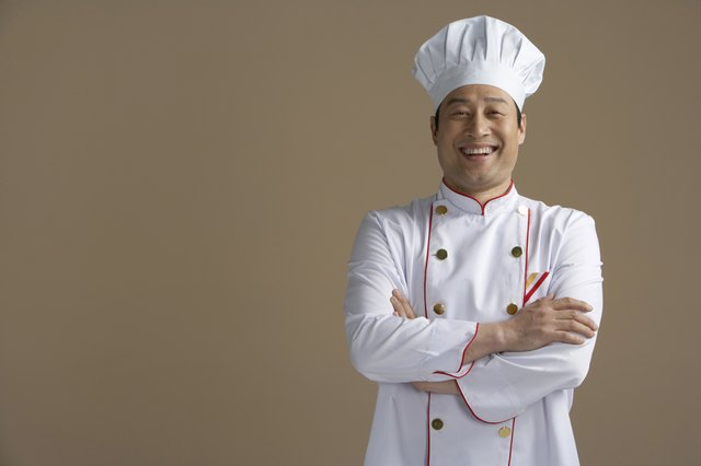 Chinese chef smiling, portrait