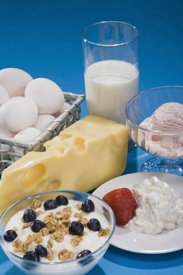 Variety of dairy foods