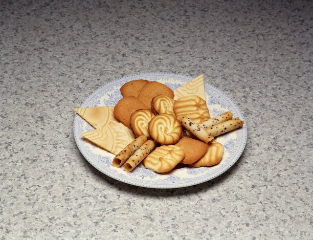 Assorted cookies on plate