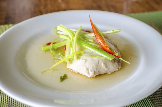 Sable fish steamed in soy sauce