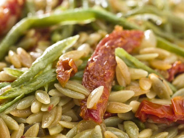 Orzo Pasta with sundried tomatoes