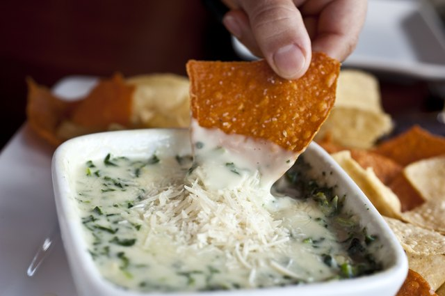 Spinach and parmesan cheese dip