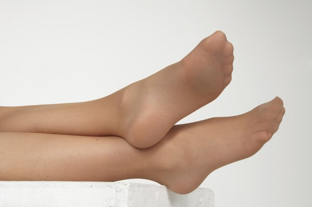 Woman's Feet in Pantyhose