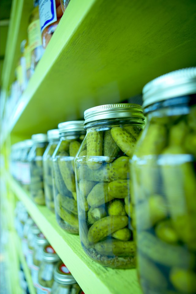 Shelves of pickles