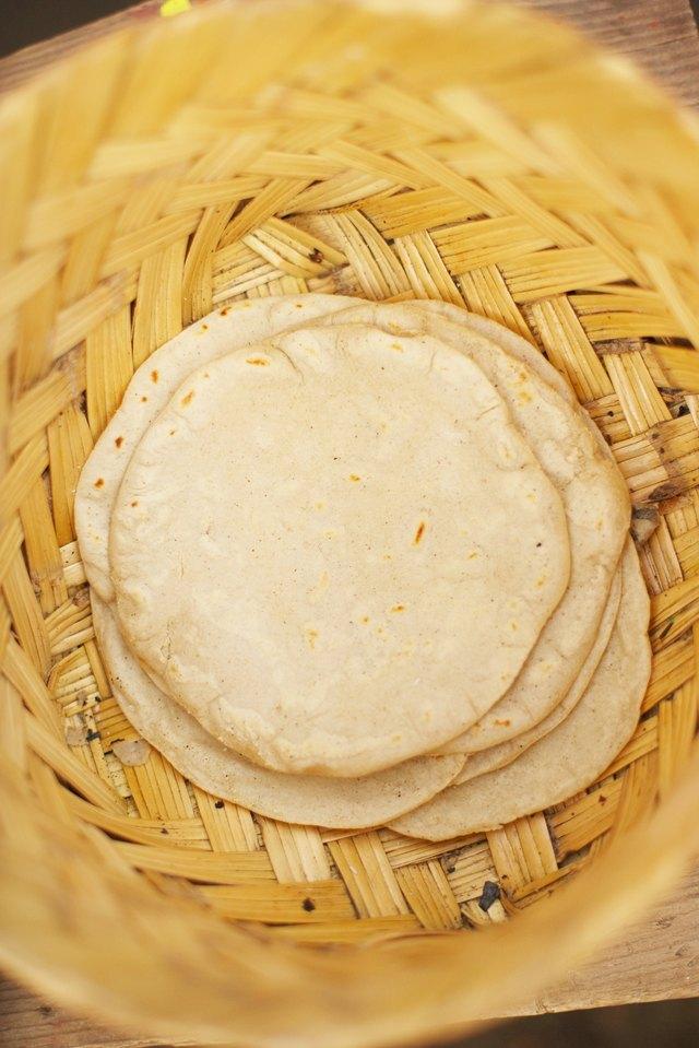 Basket of tortillas