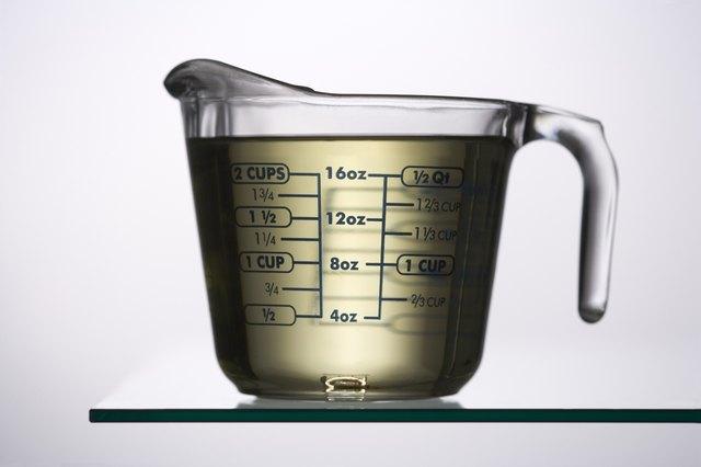 Liquid in a measuring jug