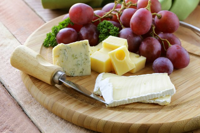 cheeseboard with three kinds of cheese