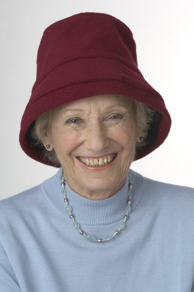 Woman in a bucket hat