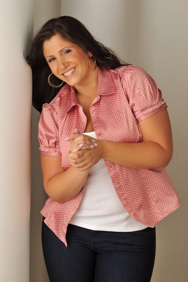 Attractive Brunette Smiling Portrait