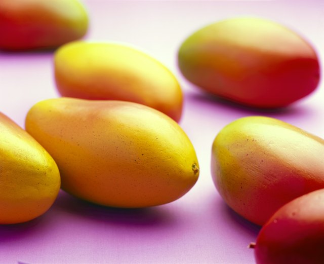 Close-up of mangoes