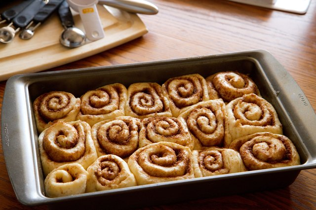 Cinnamon rolls in a pan