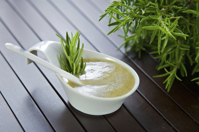 salad dressing, sauce, rosemary