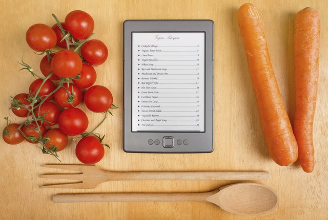 List of Recipes on a Tablet