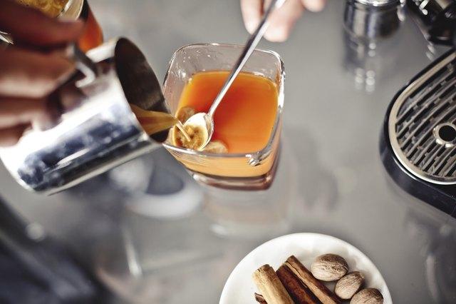 Preparation of caramel coffee