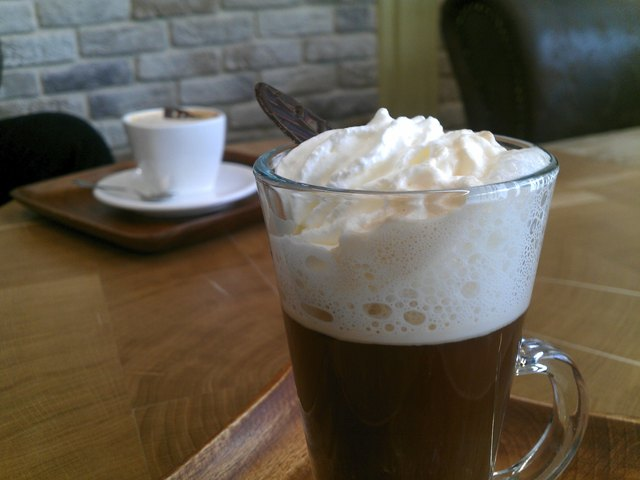 Viennese coffee with cream