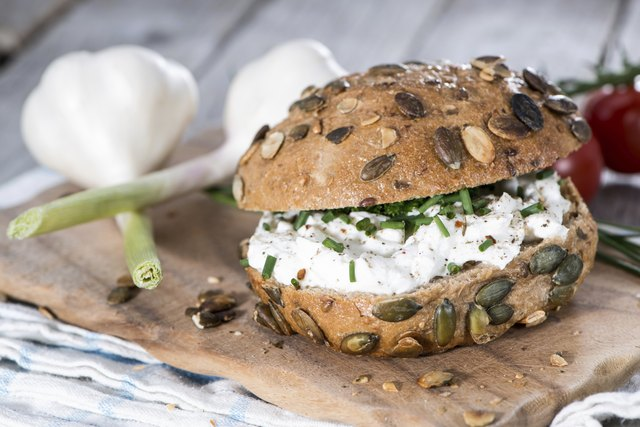 Roll with Curd and Herbs
