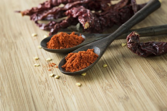 Red chilli powder and dried chillies