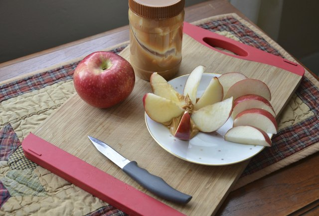 Sliced Apple Snack and Peanut Butter