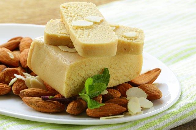 Marzipan almonds bread , wish fresh nuts