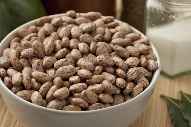 Bowl with pinto beans