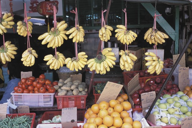 Fresh produce in a marketplace