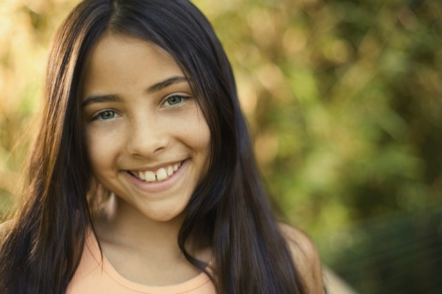 Portrait of smiling pre-teen girl