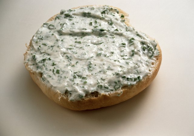 Bread Roll with Herb Cream Cheese