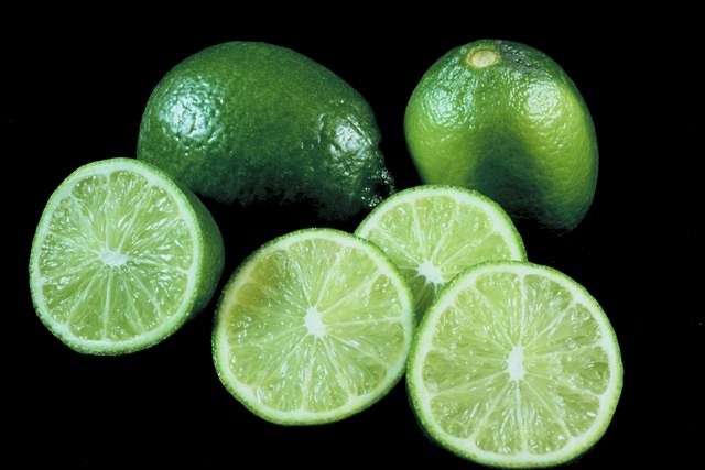 Sliced and whole limes
