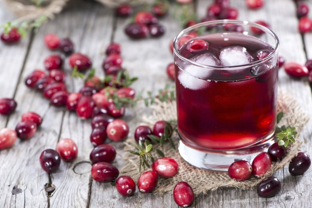 Glass with Cranberry Juice