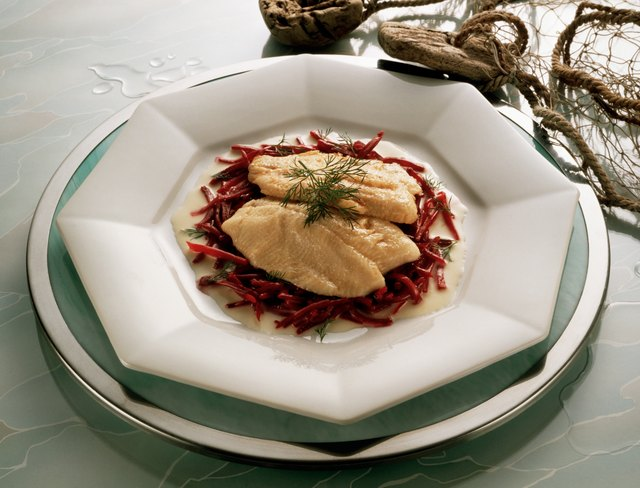 Trout Fillets with Red Beet Julienne