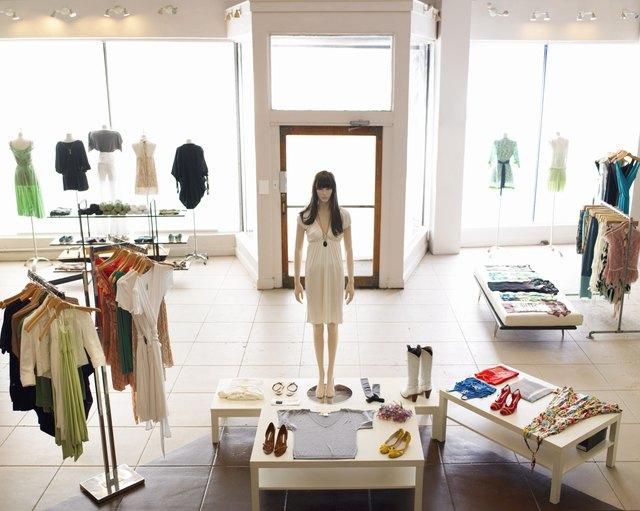 Inside retail boutique