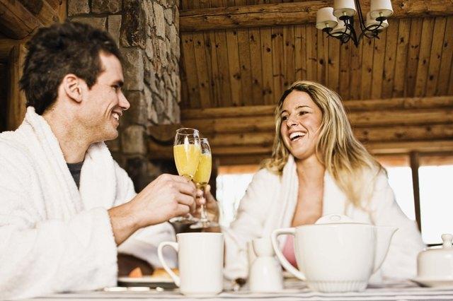 Couple at breakfast