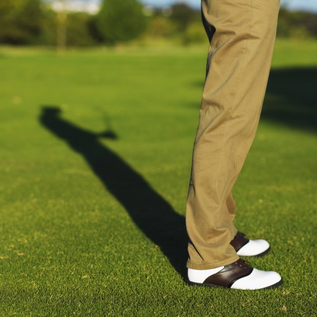 Low section of a golfer