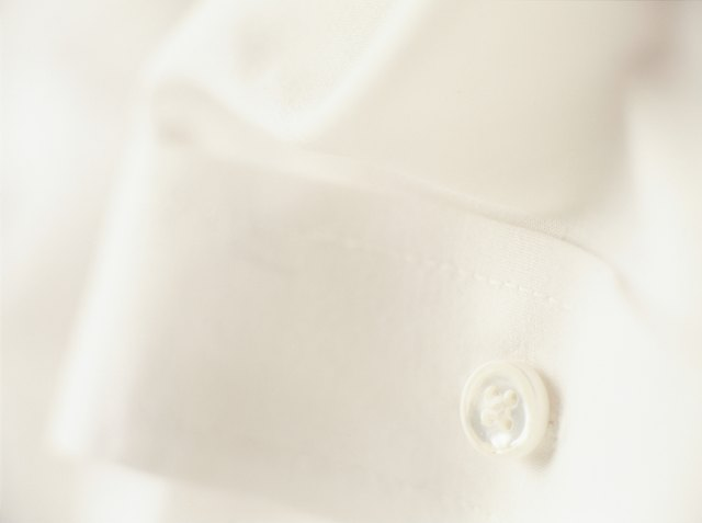 Button of white shirt