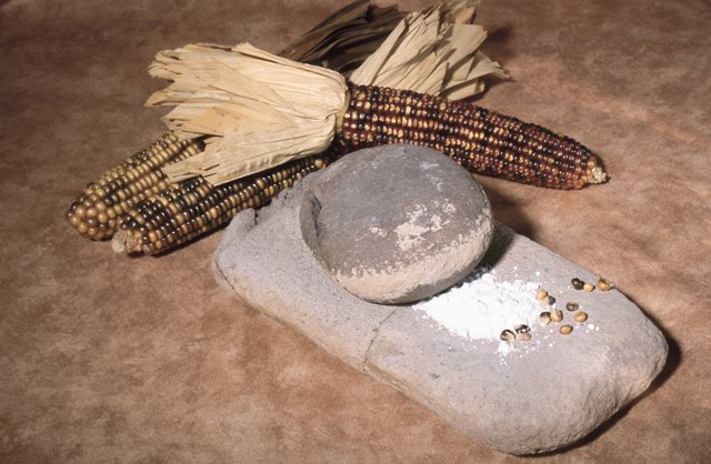 Corn and grinding stone