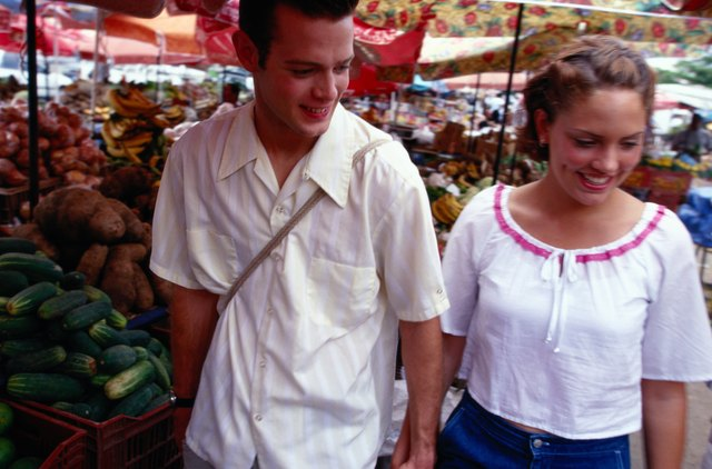 Young Couple At Outdoor Market