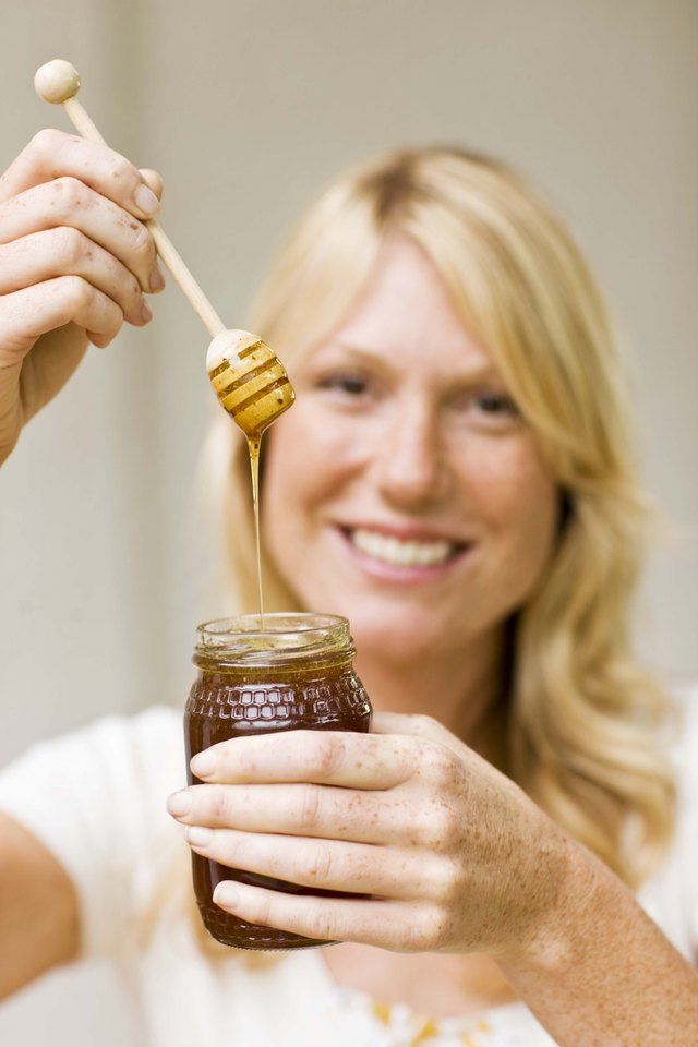 Woman with honey