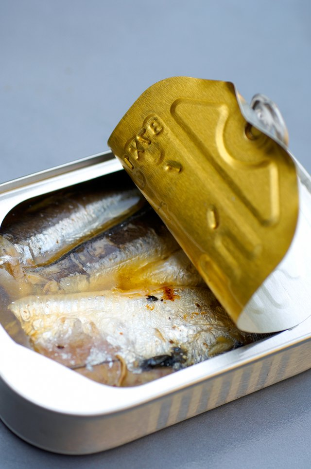 Open can of sardines