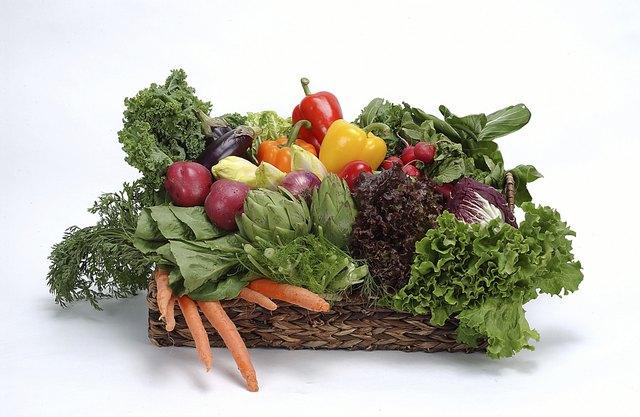 Fresh salad vegetables