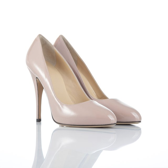 pair of female high heel shoes