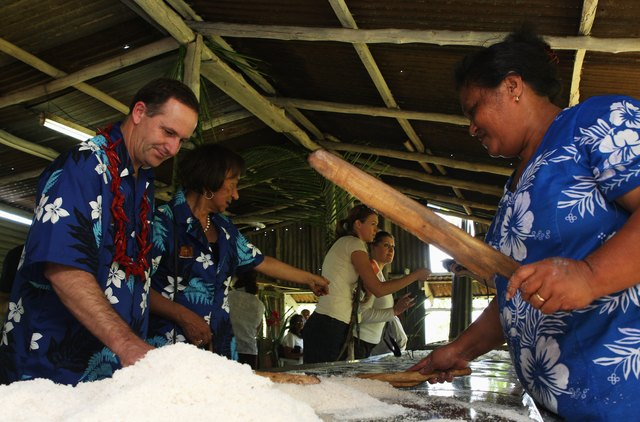 John Key Embarks On Pacific Islands Visit - Day 2