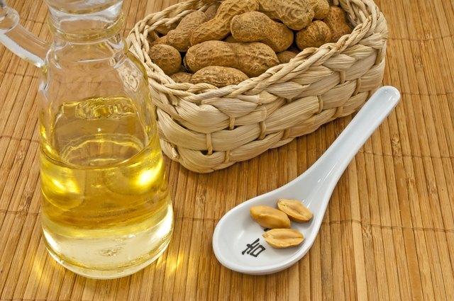 peanut oil with peanuts