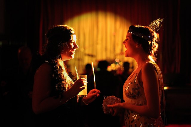 Revellers Gather For A 20's Themed Ball At The Bloomsbury Ballroom
