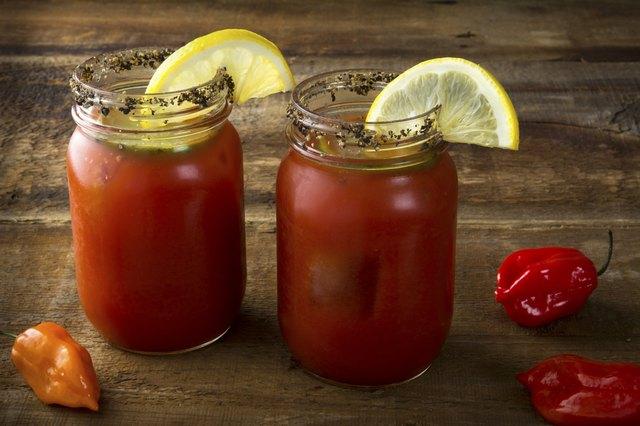 Mason Jar  Bloody Marys