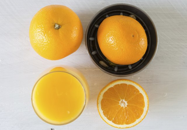 Juicer and orange
