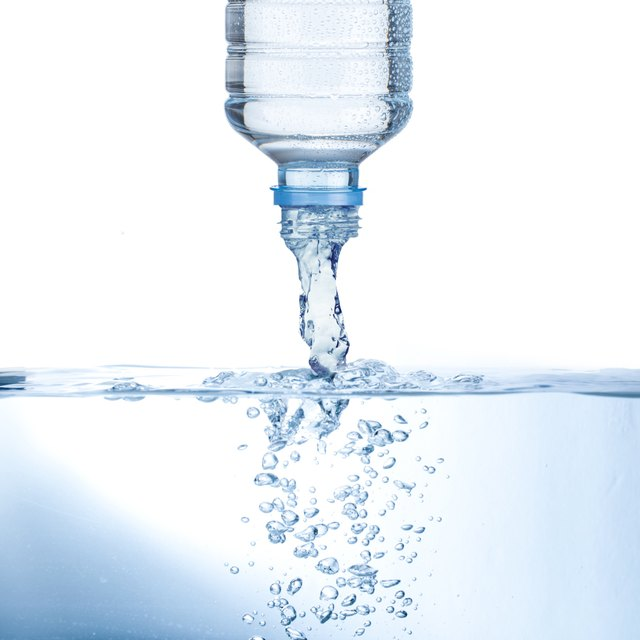 Water pouring from bottle