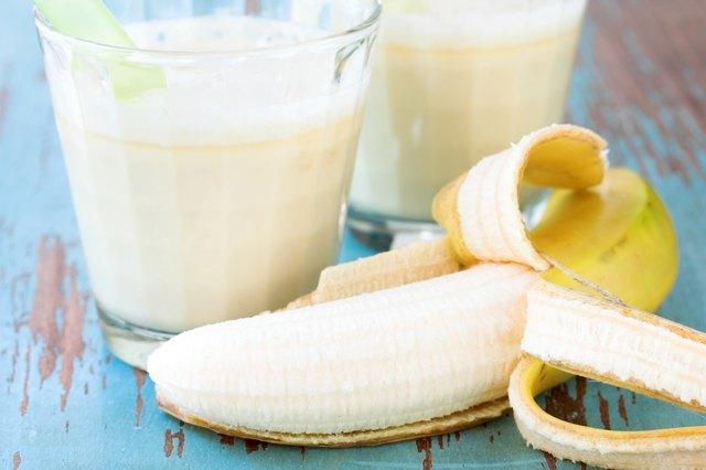 Banana fruit smoothie drink
